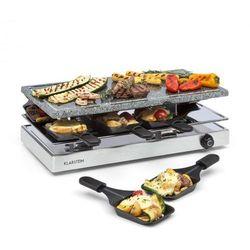 Klarstein Gourmette raclette 1200W płyta z kamienia naturalnego 8 osób obudowa ze stali nierdzewnej