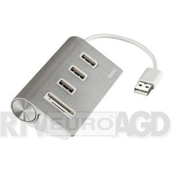 """HUB USB-2.0/CZYTNIK KART """"ALUMINIUM"""""""