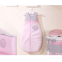 MAMO-TATO Śpiworek do 18 m-ca haftowany Słonik różowy