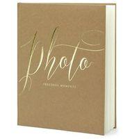 """Fotoalbumy, Album na zdjęcia """"Precious Moments"""", PartyDeco, 20 x 24,5 cm, kraft, 22 kartki"""