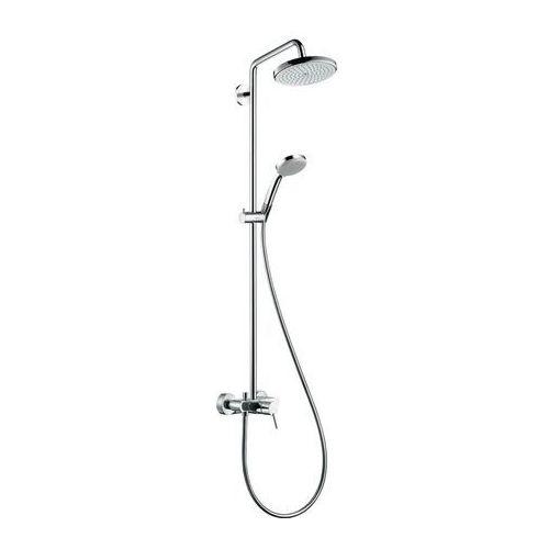 komplet prysznicowy croma 220 z baterią oraz ramieniem prysznicowym 400 mmm, dn15 27222000 marki Hansgrohe
