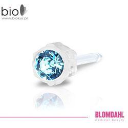 Kolczyk do przekłuwania uszu Blomdahl - Aquamarine 4 mm