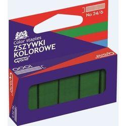 Zszywki kolorowe 24/6 zielone GRAND