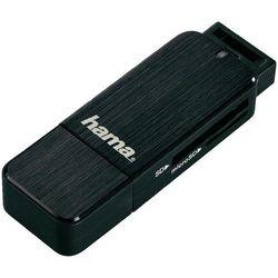 Czytnik kart pamięci, zewnętrzny, USB 3.0 Hama 123901, czarny