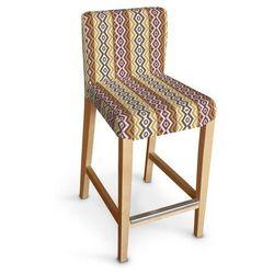 Dekoria Sukienka na krzesło Henriksdal krótka 133-12, krzesło barowe Henriksdal