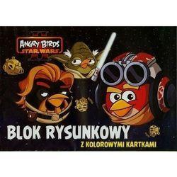 Blok rysunkowy A4 Angry Birds z kolorowymi kartkami 16 kartek