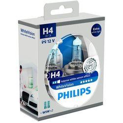 Philips WhiteVision Xenon-Effekt H4 żarówka samochodowa 12342WHVSM, 2 sztuki w zestawie - BEZPŁATNY ODBIÓR: WROCŁAW!