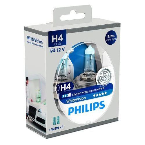 Wskaźniki samochodowe, Philips WhiteVision Xenon-Effekt H4 żarówka samochodowa 12342WHVSM, 2 sztuki w zestawie