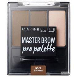 MAYBELLINE - MASTER BROW - Pro Palette - Zestaw do makijażu brwi - SOFT BROWN