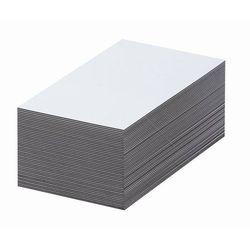 Magnetyczna tablica magazynowa, białe, wys. x szer. 70x100 mm, opak. 100 szt. Za