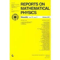 Matematyka, Reports on Mathematical Physics 54/1 wer.kraj. (opr. miękka)