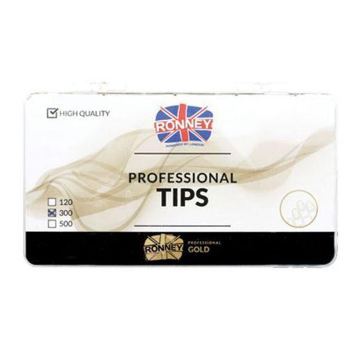 Tipsy, Ronney PROFESSIONAL TIPS FRENCH CREAM Tipsy french z małą kieszonką, kremowe (300 szt.)