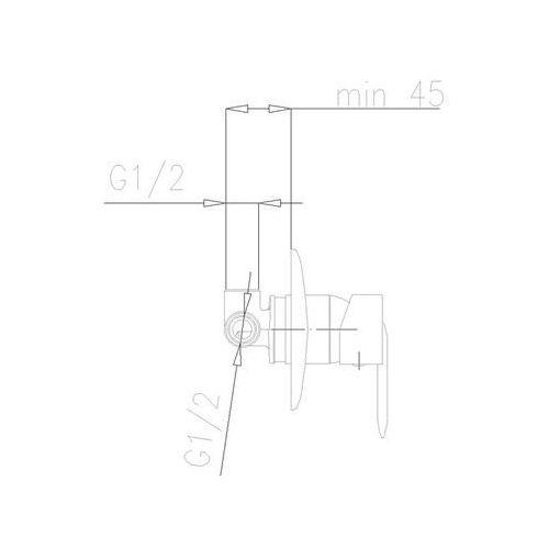 Baterie do pryszniców, Bateria KFA Cyrkon 589-610-00