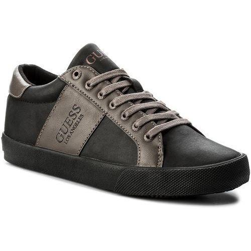 Półbuty damskie, Sneakersy GUESS - FJTHE1 LEA12 BLK