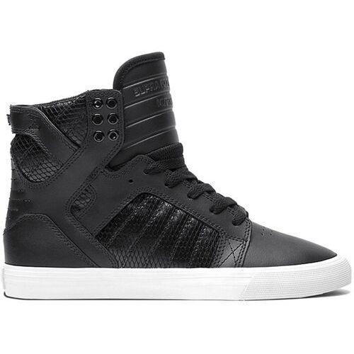Damskie obuwie sportowe, buty SUPRA - Wmns Skytop High Black/Black (BBW) rozmiar: 40.5