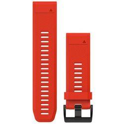 Garmin fenix 5x/3 Silikonowy pasek do zegarka QuickFit 26mm, red 2020 Akcesoria do zegarków
