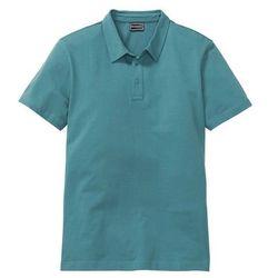 Shirt polo ze stretchem Slim Fit bonprix matowy kobaltowy
