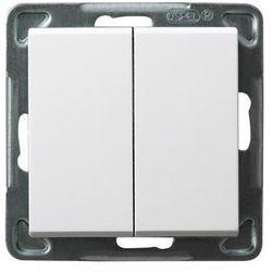 Łącznik podwójny schodowy Biały - ŁP-10R/m/00 Sonata