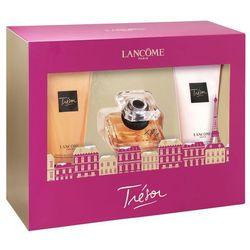 Lancome Tresor, Zestaw podarunkowy, woda perfumowana 30ml + Żel pod prysznic 50ml + mleczko do ciała 50ml