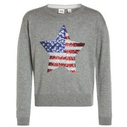 GAP FLAG CREW Sweter light heather grey