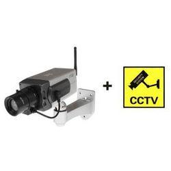 Profesjonalna Obrotowa Atrapa Kamery + Mrugająca Dioda LED + Naklejka.