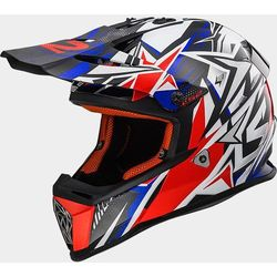 KASK LS2 MX437 FAST STRONG WHITE/BLUE/RED