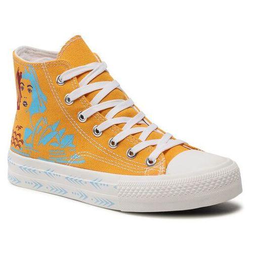 Damskie obuwie sportowe, Trampki KEDDO - 817520/02-02E Yellow