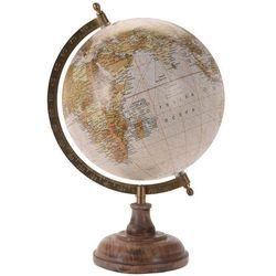 Globus na drewnianej podstawce - kolor brązowy