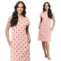 Bawełniana koszula nocna damska LUNA 296 różowa
