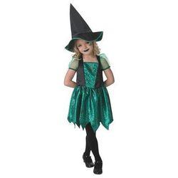 Kostium Zielona czarownica w pajęczyny dla dziewczynki - Roz. S