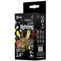Ozdoby świąteczne, Lampki choinkowe 40 LED 4m CW, timer ZY0801T