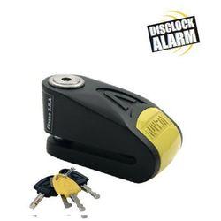 Blokada na tarczę z alarmem AUVRAY B-LOCK 14 - czarno-żółta, średnica bolca 14 mm