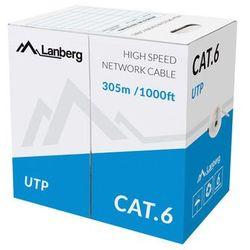 Lanberg kabel utp kat.6 305m drut cca lcu6-10cc-0305-s - LCU6-10CC-0305-S- natychmiastowa wysyłka, ponad 4000 punktów odbioru!