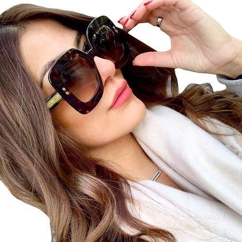 Okulary przeciwsłoneczne, Okulary damskie panterkowe przeciwsłoneczne duże