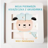 Książki dla dzieci, Moja książeczka z układanką - Małe zwierzątka (opr. kartonowa)