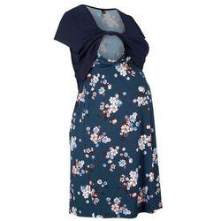Sukienka ciążowa i do karmienia piersią w kwiaty bonprix ciemnoniebieski w kwiaty
