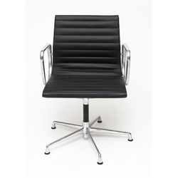 Fotel konferencyjny CH inspirowany EA108 skóra, chrom - czarny