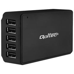 Qoltec Stacja Quick Charge | 5 x USB | max 8A