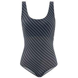 Kostium kąpielowy bonprix czarny + w paski