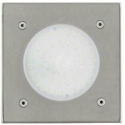 LAMEDO-Reflektorek zewnętrzny do zabudowy LED Biała Ciepła 10x10cm