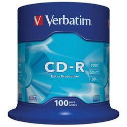 Płyta CD-R VERBATIM 700MB cake op. 100szt.