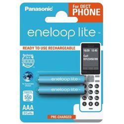 2 x Panasonic Eneloop Lite R03/AAA 550mAh BK-4LCCE/2BE (blister)