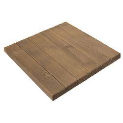 Płyta tarasowa Bruk-Bet 45 x 45 cm parkiet brązowy