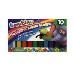 Plastelina kwadratowa Bambino 10 kolorów. Darmowy odbiór w niemal 100 księgarniach!