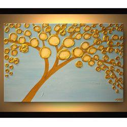 ręcznie malowany, grubo fakturowany obraz nowoczesny rabat 15%