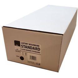 Listwy do bindowania wsuwane standard Argo, czerwone, 6 mm, 50 sztuk, oprawa do 20 kartek