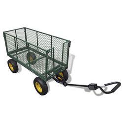 vidaXL Wózek transporter ogrodowy wysokie boczne ścianki (max. 350 kg) Darmowa wysyłka i zwroty