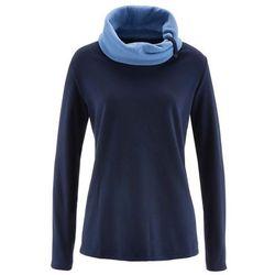 Bluza z polaru, długi rękaw bonprix ciemnoniebieski