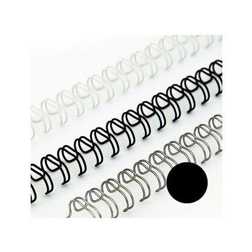 Grzbiety do bindownic, Grzbiety drutowe 9.5 mm, oprawa do 65 kartek, czarne