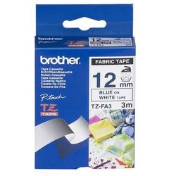 BROTHER Taśmy do drukarek FABRIC 12mm x 3m, niebieski/biały